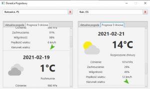 weather app window